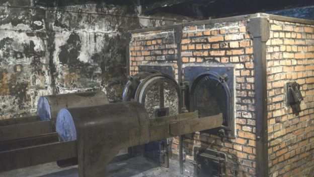 Одна из печей в крематории лагеря смерти Освенцим-Биркенау