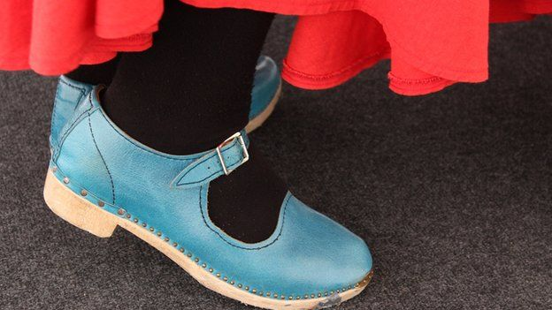 Sgidiau clocsio // Some fantastic footwear on display today during the clog dancing competitions