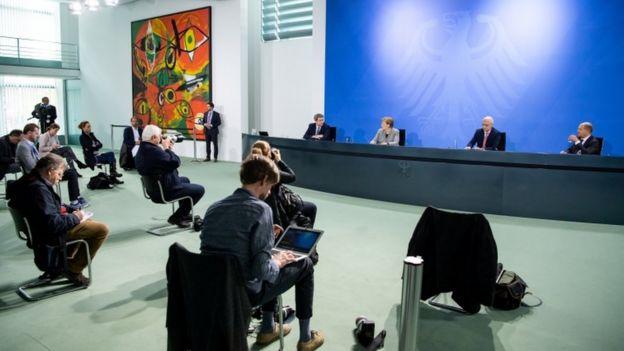 Во время пресс-конеференции Ангелы Меркель