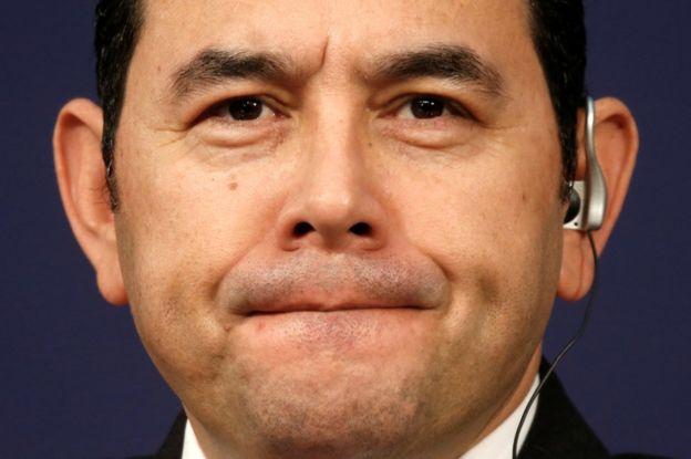 Jimmy Morales, el presidente de Guatemala