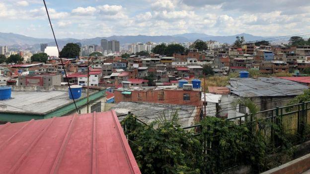 Una vista de Caracas