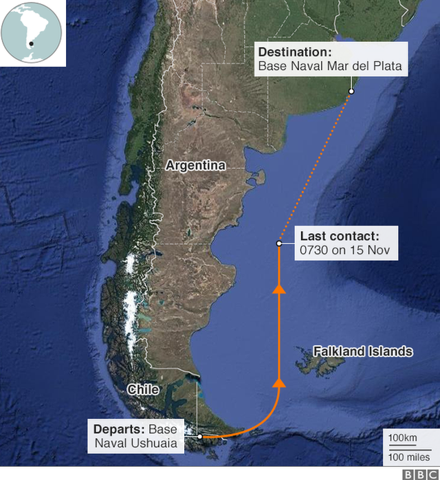 Argentina missing submarine: Specialist equipment deplo ... on large map of chile, ecuador and chile, people from chile, detailed map of chile, political leader of chile, political map of chile, street map of villarrica in chile, map of nuclear power plants in the world, map of chile with cities, map of el cono sur, map of chile coast, map show patagonia, map of southern chile, map of patagonia chile, map of copiapo chile, printable map of chile, map chile argentina border, map of chile and hawaii, map of peru, map of patagonia region,