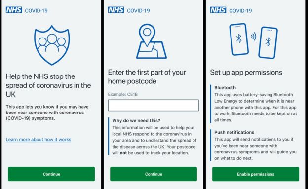 Coronavirus: Hands on with NHS Covid-19 contact-tracing app - BBC News