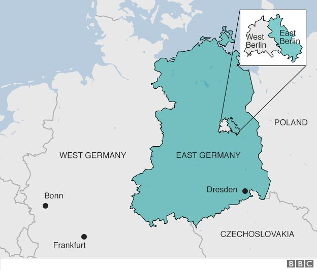 East West Germany Map East German border claimed 327 lives, says Berlin study   BBC News East West Germany Map