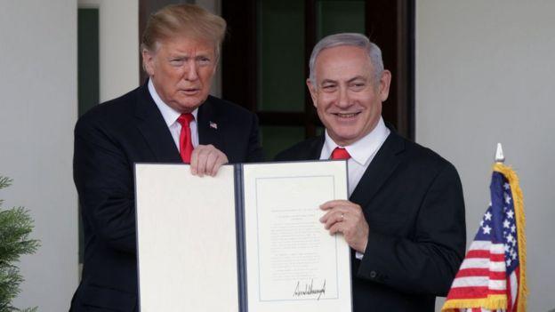 Donald Trump y Benjamín Netanyahu.