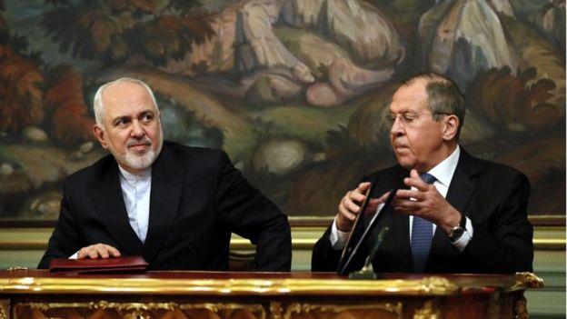 İran Dışişleri Bakanı Muhammed Cevad Zarif ile Rus mevkidaşı Sergey Lavrov