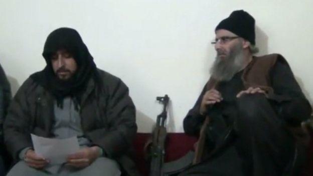 """لمحة عن""""جيش خالد بن الوليد"""" التابع للدولة الإسلامية في جنوب غربي سوريا _102504290_--"""