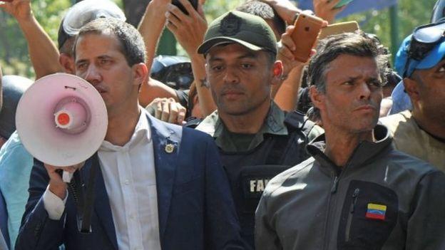 Guaidó y Leopoldo López