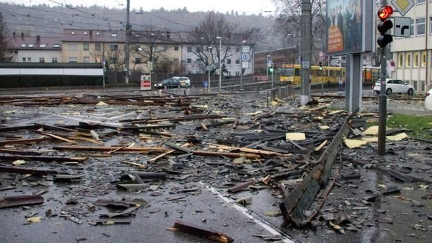 Наслідки стихії у Штутгарті