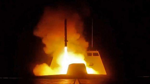 Un misil dirigido hacia Siria