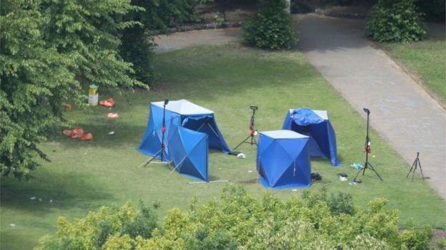 تحقیقات پلیس در پارک محل حادثه در جریان است
