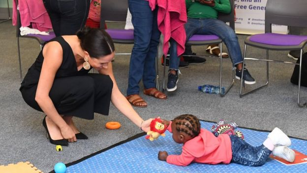 The Duchess of Sussex visiting mothers2mothers in Cape Town