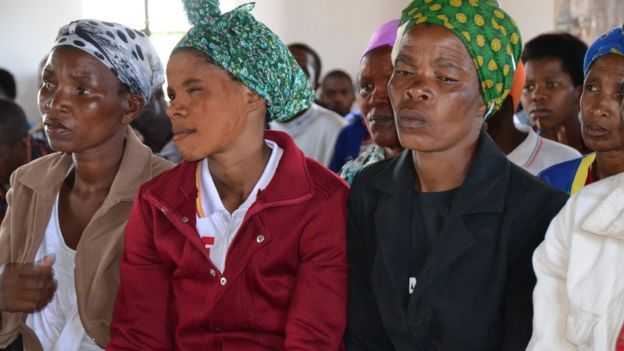 Villagers attend a meeting in Xolobeni, Eastern Cape