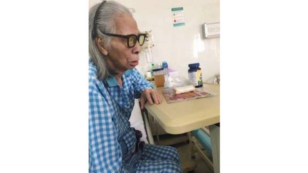 Ảnh chụp nhạc sĩ Tô Hải ngày 7/1 trong bệnh viện Hoàn Mỹ