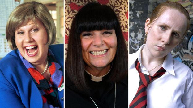 Left-right: Matt Lucas, Dawn French, Catherine Tate