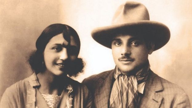 Rosa and Joseph Bouglione as a young couple