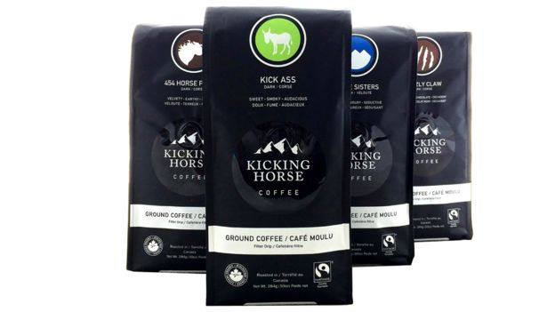Packs of Kicking Horse Coffee