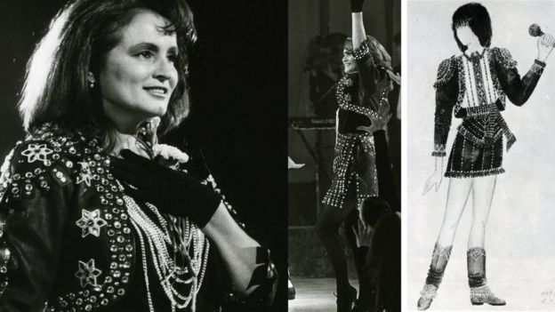 Шкіряний костюм в рок-стилі для Софії Ротару. 1991 рік