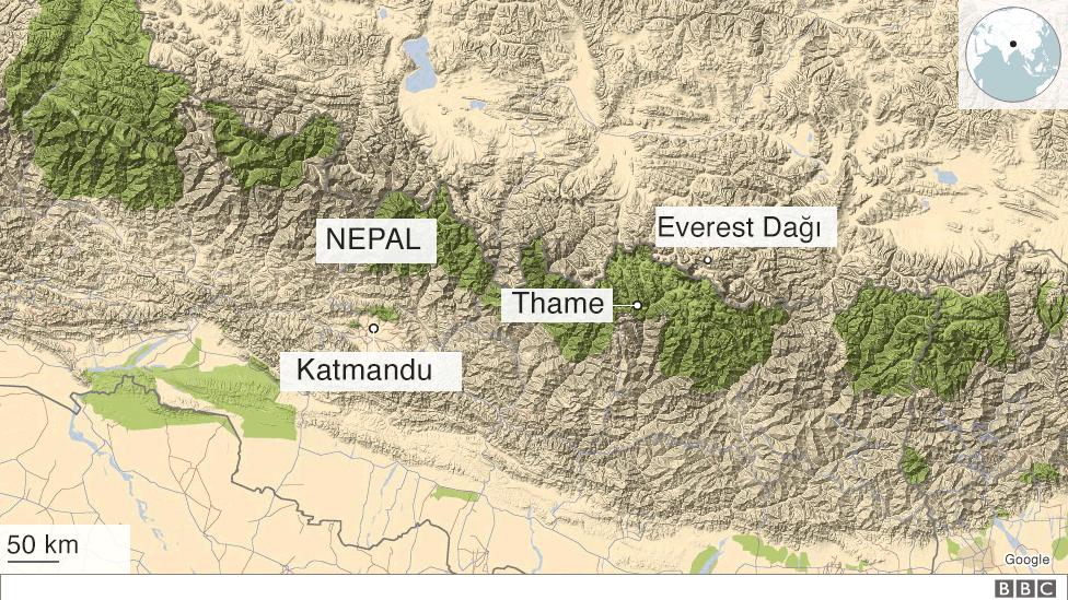 nepal haritası