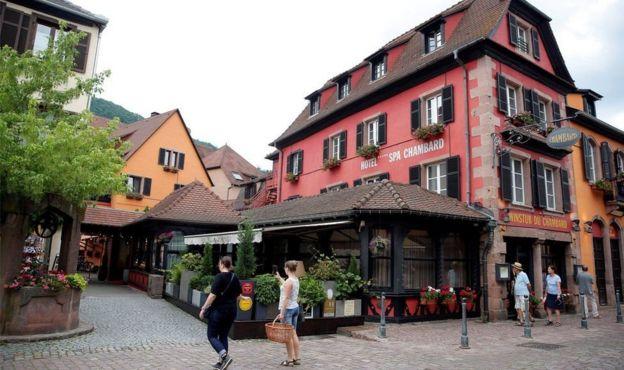 Bourdain was staying at Le Chambard luxury hotel in Kaysersberg