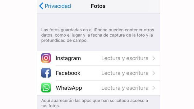 Captura de pantalla iPhone