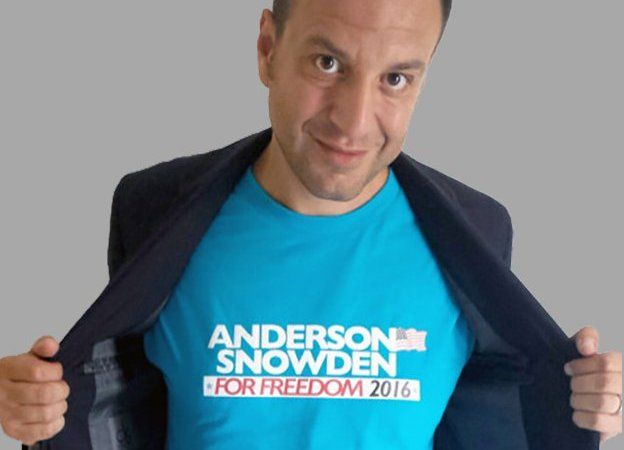 Alessandro Nardone posing as Alex Anderson