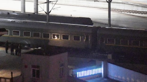 Tren en el que se cree que viaja Kim Jong-un.