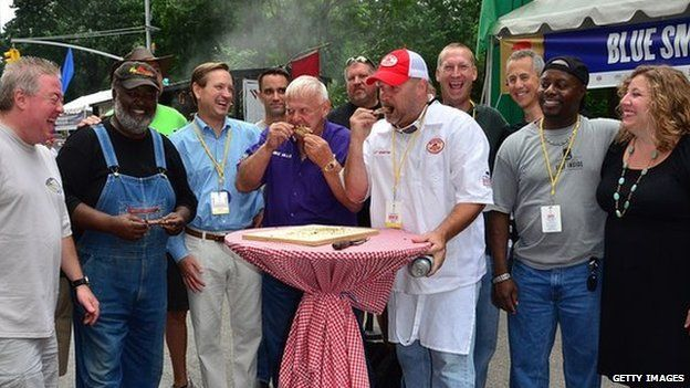 Famous barbecue pitmasters including Ed Mitchell and Rodney Scott