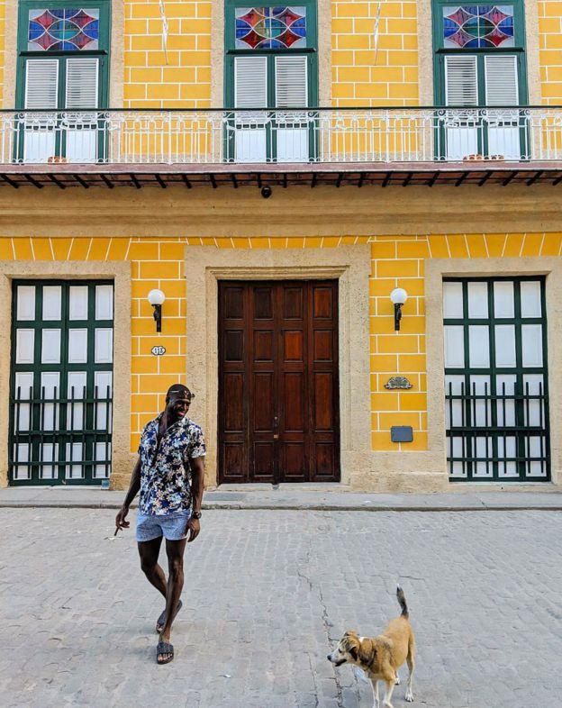 Kojo Brown seen in Cuba's capital Havana.