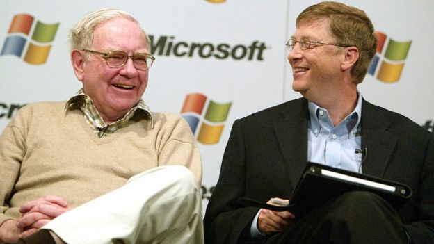 Warren Buffett y Bill Grates en 2003