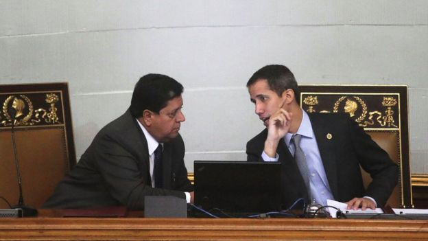 Guaidó and Zambrano at the National Assembly