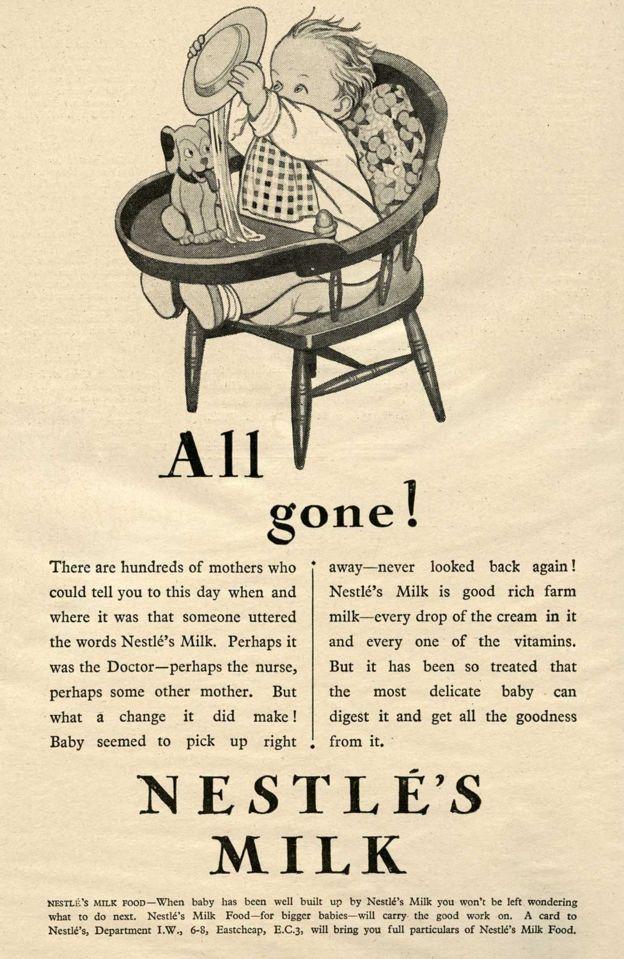 Anúncio de leite em pó da Nestlé
