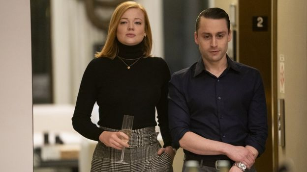Sarah Snook and Kieran Culkin in Succession