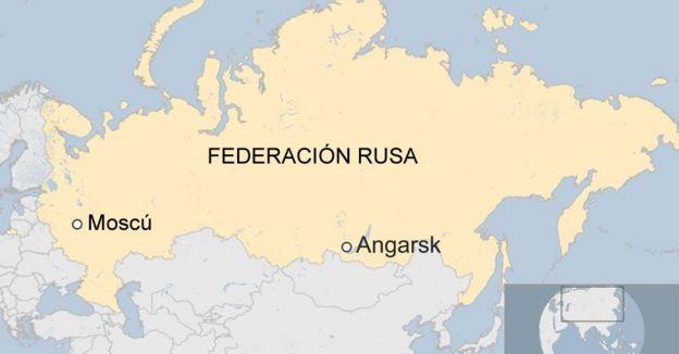 Mapa de Angarsk