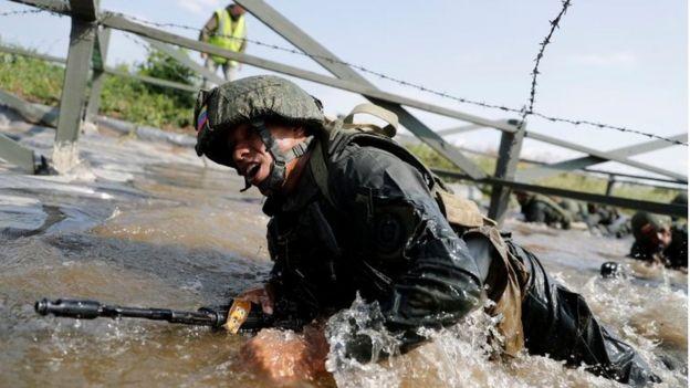 Marines venezolanos en Rusia