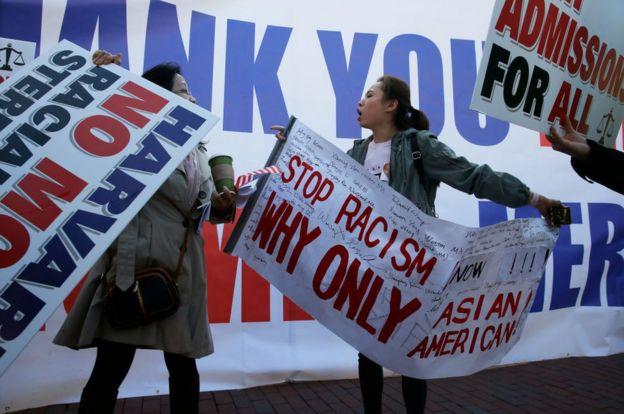 Protesters quarrell