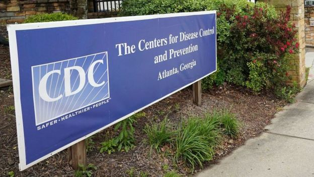 US CDC sign at entrance to premises in Atlanta US