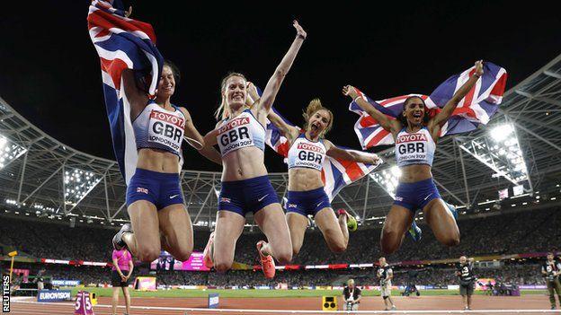 Britain's women's relay team