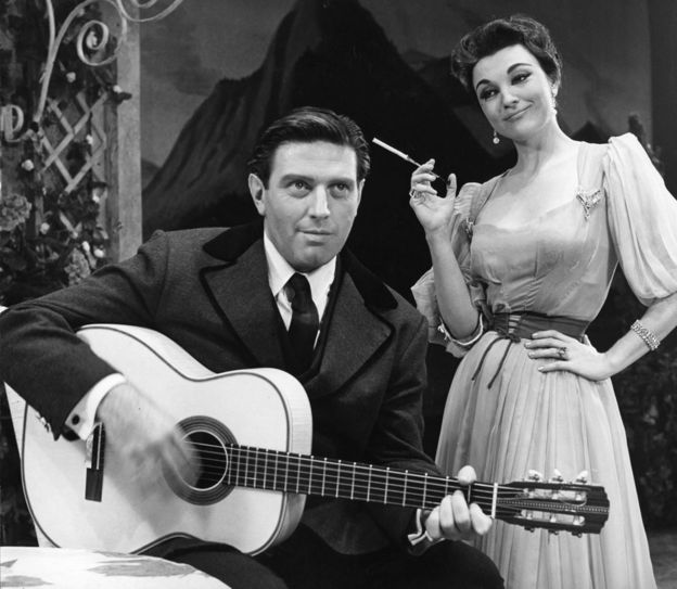 Captain von Trapp and his girlfriend, the Baroness.