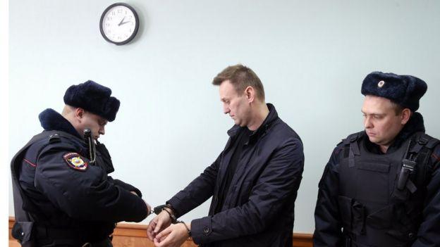 Алексей Навальный в суде, где рассматривалась его жалоба на приговор об административном аресте