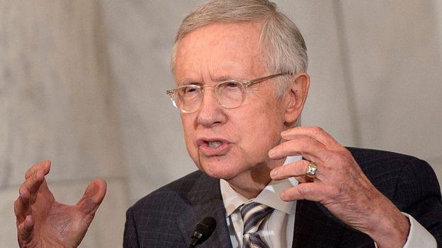 Harry Reid, cuando era senador de Estados Unidos, diciembre de 2016
