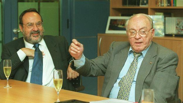Alfredo Relaño junto a Alfredo Di Stéfano