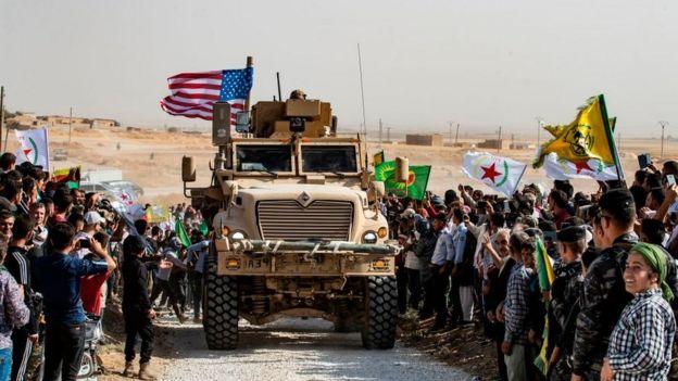Tanque estadounidense en Medio Oriente.