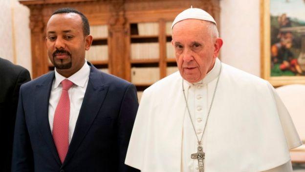 Le pape François et le Premier ministre éthiopien Abiy Ahmed