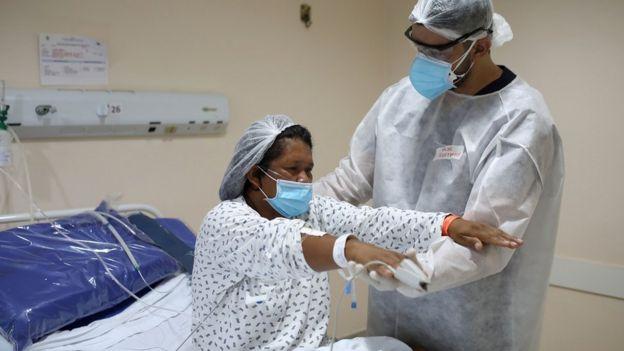 Paciente de covid em Manaus