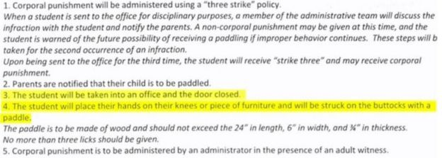 The school sent the policy guidelines to parents with a form asking for their consent