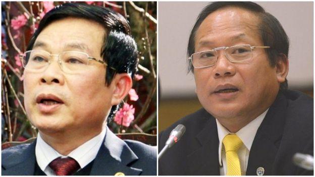 Ông Nguyễn Bắc Son (trái) và ông Trương Minh Tuấn