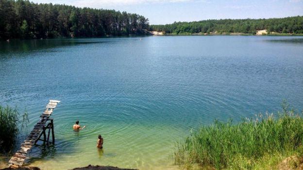голубі озера, чернігівщина, олешня