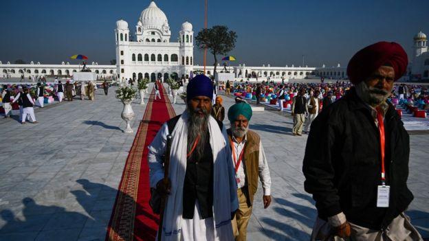 Sikh pilgrims at Kartarpur