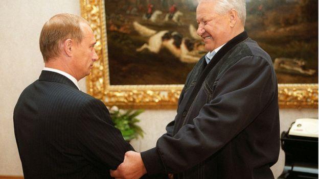 Putin y Yeltsin